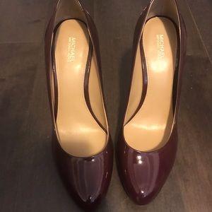 Burgundy Michael Kors heels